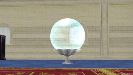中型の球体水そう