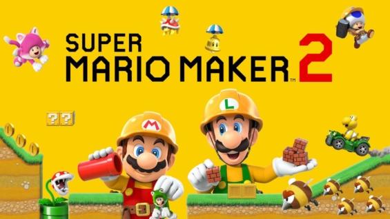 スーパーマリオメーカー2のタイトル画面