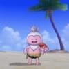 レオパード水着を着たプクリポ