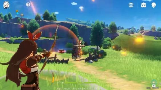 原神のゲーム内映像