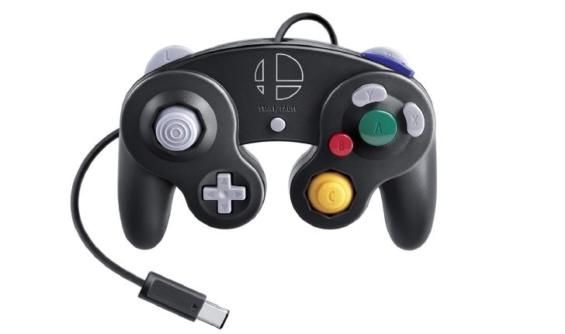 ニンテンドー ゲームキューブ コントローラ スマブラブラックの写真