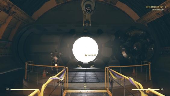 Fallout76を開始した当時のスクショ