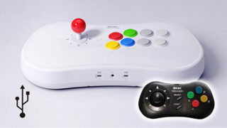 NEOGEO Arcade Stick ProとNEOGEOCDのコントローラー