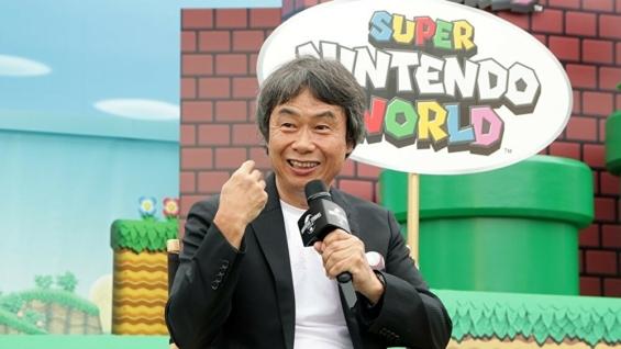 USJでインタビューを受ける宮本茂氏