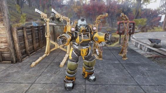 Fallout76のパワーアーマーステーションとエクスカベーターパワーアーマー