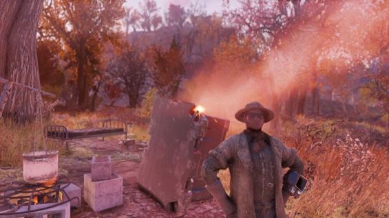 Fallout76で最初に作ったキャンプ