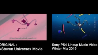 PS4のLineup Music Video「夢の中へ」のトレース比較