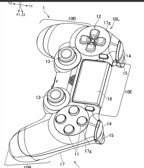 PS5のコントローラー用と思われる特許画像