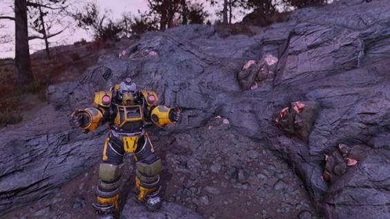 Fallout76ソロモンの池の銅鉱脈