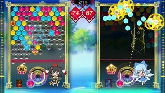 東方スペルバブルのゲーム画面