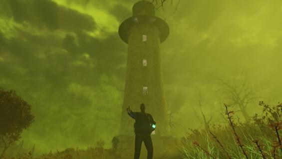 ラッドストームが起きているランドビュー灯台