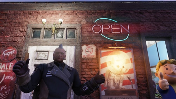 Fallout76の「看板と文字」ネオンサイン
