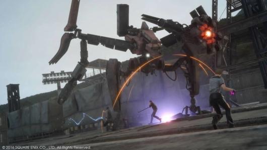 ファイナルファンタジーXVの戦闘シーン