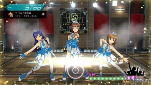 アイドルマスタープラチナスターズのゲーム画面