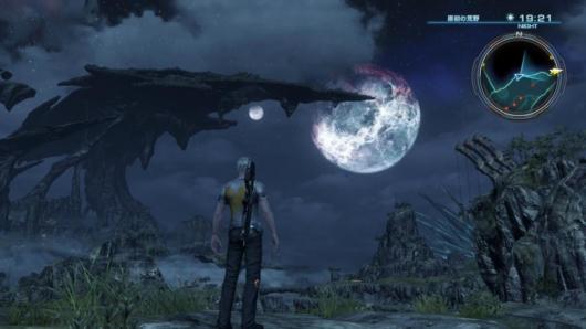 ゼノブレイドクロスの夜のフィールド