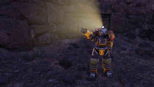 Fallout76「ホーンライトの試験場#03」にある鉛鉱石