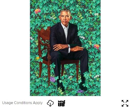 オバマ元大統領の肖像画のIIIFアイコン
