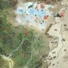 Fallout 76 Wastelanders(ウェイストランダース)のC.A.M.P.設置不可マップの一部