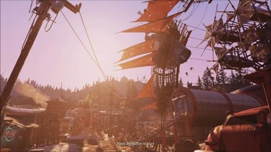「Fallout 76 ウェイストランダース」OP画面