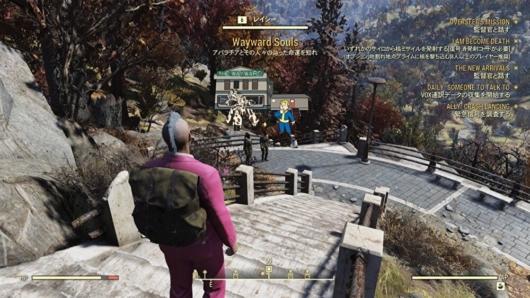 Fallout76のVault76付近にいたNPC