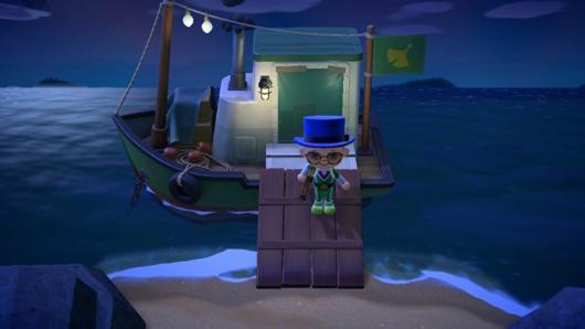 あつまれ どうぶつの森「つねきちの船」