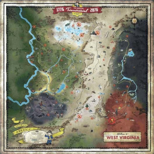 Fallout 76 Wastelanders(ウェイストランダース)のC.A.M.P.設置不可マップ