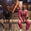 Fallout 76ベンチに座るベケット