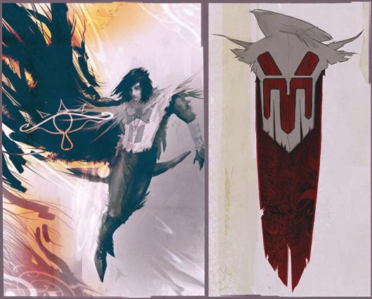 キャンセルされた「ゼルダの伝説」のコンセプトアート「シーカー族の男性」
