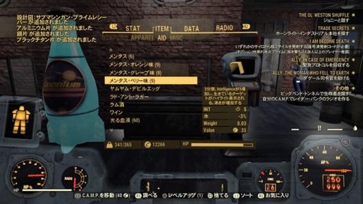 Fallout 76飾り付きのモールマイナーの桶から出てきたアイテム