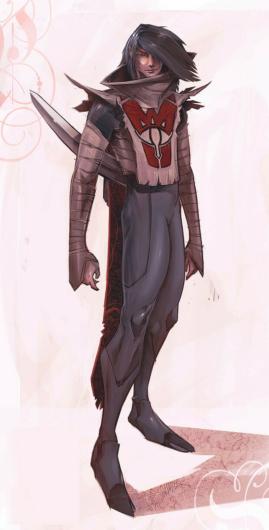 キャンセルされた「ゼルダの伝説」のコンセプトアート「シーカー族の男性3」