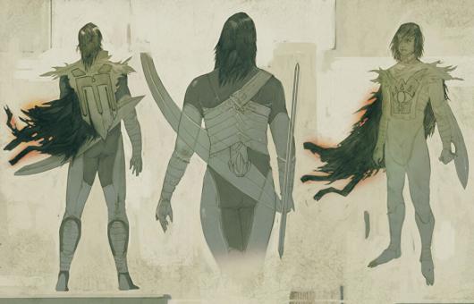 キャンセルされた「ゼルダの伝説」のコンセプトアート「シーカー族の男性2」