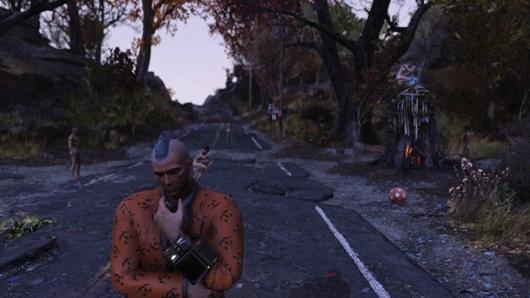 Fallout76のファスナハトイベントにいた全裸キャラ
