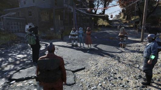 Fallout76のファスナハトイベントのプレイヤーキャラ達