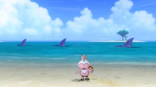 海イベント「キミとサメない夢を」の晴れた時に泳いでいたサメバーン
