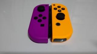 Joy-Conネオンパープル&ネオンオレンジの写真