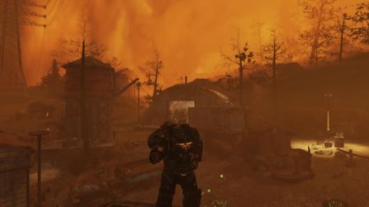 Fallout76の核が落ちたモノンガー鉱山