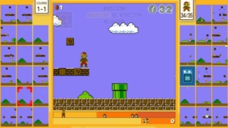 「スーパーマリオブラザーズ35」のゲーム画面