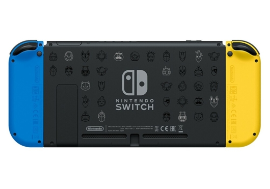 Nintendo Switch:フォートナイトSpecialセットのSwitch本体背面