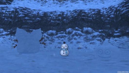 「星明の宮」にあった雪だるま