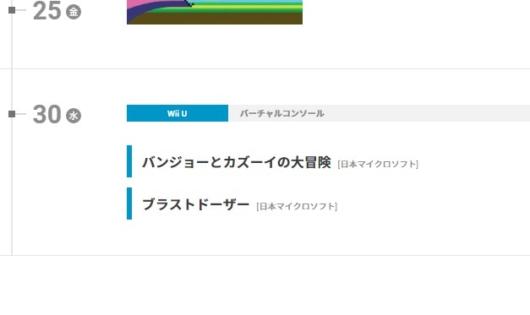WiiUのバーチャルコンソールのラインアップに登場した「バンジョーとカズーイ」「ブラストドーザー」