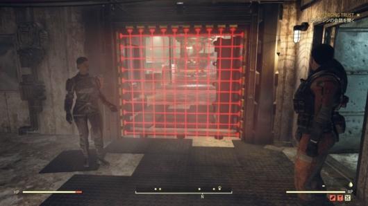 Fallout76「Steel Dawn」ATLAS砦内部にいるパラディン・ラフマーニとナイト・シン