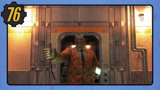Fallout76のシェルターのユーティリティ室前の写真