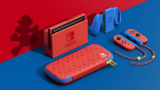 Nintendo Switch「マリオレッド×ブルー セット」の画像