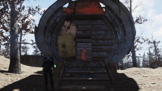 Fallout76「空飛ぶ要塞」正面部