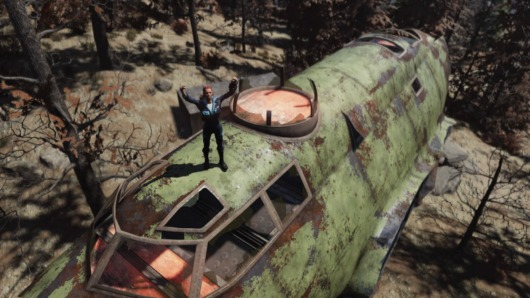 Fallout76「空飛ぶ要塞」上側