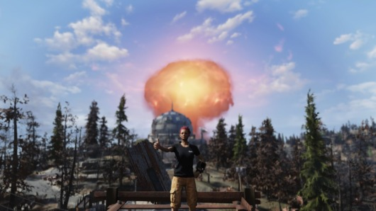 「Fallout76」C.A.M.P.からみた核爆発