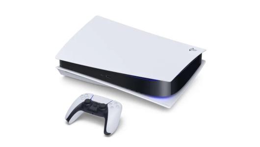 PS5本体の画像とコントローラー