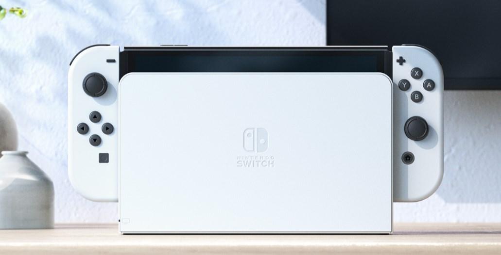 NintendoSwitch有機モデルのホワイト