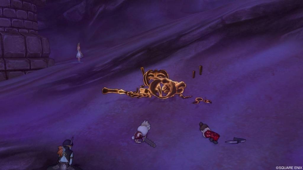 レベル上げでドラゴンゾンビ強にチャージタックルを放った瞬間