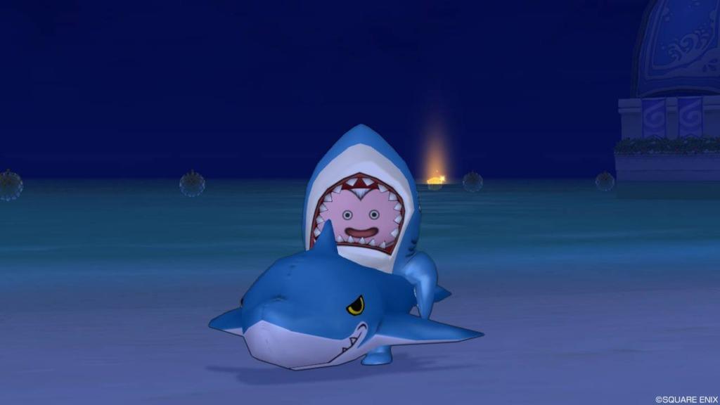 サメの浮き輪を装備したバルカズ